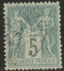 FRANCE Scott 78 5c 1876 Peace and Commerce issue