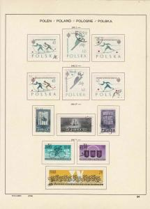 poland 1962 winter sports, cycling, famous people stamps page ref 17269