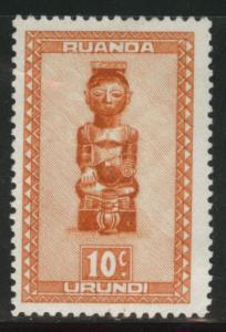 Ruanda-Urundi Scott 90 MH* from 1948-50 set