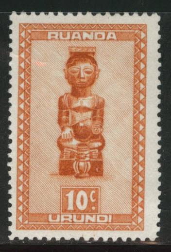 Ruanda-Urundi Scott 90 MH* from 1948-50 set