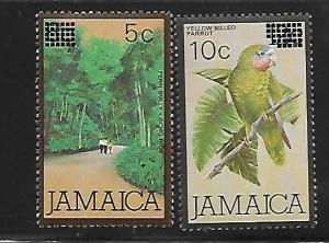 JAMAICA, 581-582, MINT HINGED,SURCHARGED