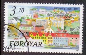 Faroe Islands 1991 used 223   Torshavn Capital  Tinganes  #