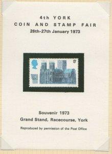 Great Britain 4th York Coin & Stamp Show 1973 Souvenir Sheet MNH -SR