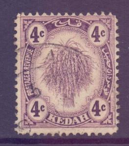 Malaya Kedah Scott 29 - SG54, 1922 Wheatsheaf 4c used
