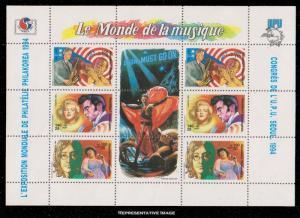Madagascar MNH S/S 1224 Musicians 1994 SCV 4.75