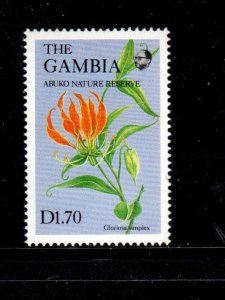 GAMBIA #688A  1987  1.70d   WILDFLOWERS  MINT VF NH  O.G