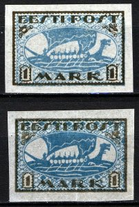 Estonia 1919, Vikingship 1 Mark, Mi 12 shades MNH (E100024)