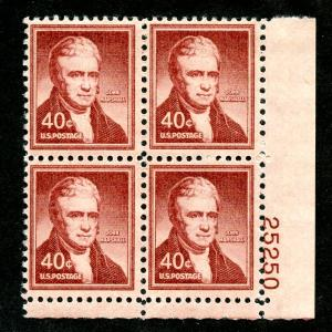 U.S. Scott 1050 FVF MNH Plate Block of 4