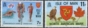 Isle of Man #139-140 MNH