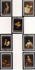 MONGOLIA 1981 REMBRANDT PAINTINGS DIPINTI COMPLETE SET SERIE COMPLETA USED US...
