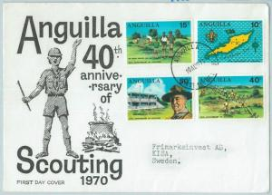 67121 - ANGUILLA - Postal History -  FDC COVER  1970: BOY SCOUTS