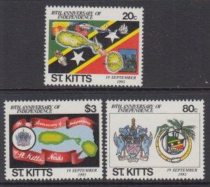 St Kitts 366-368 MNH VF