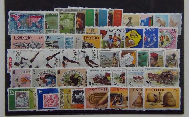 Lesotho 1964 1984 Olympics WHO Gun War Royal Wedding Food Grasswork Scouts MNH