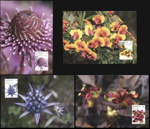 Australia. 2015. Wildflowers (Mint) Set of 4 Maxi Cards
