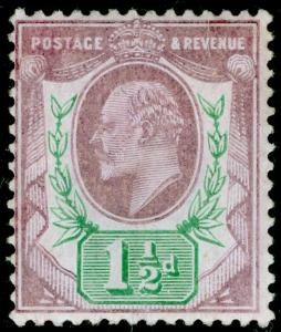 SG224 SPEC M9(-), 1½d very pale-purple & green (CHALKY), M MINT. UNLISTED.