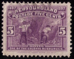 Newfoundland Sc 65 Violet Used F-VF