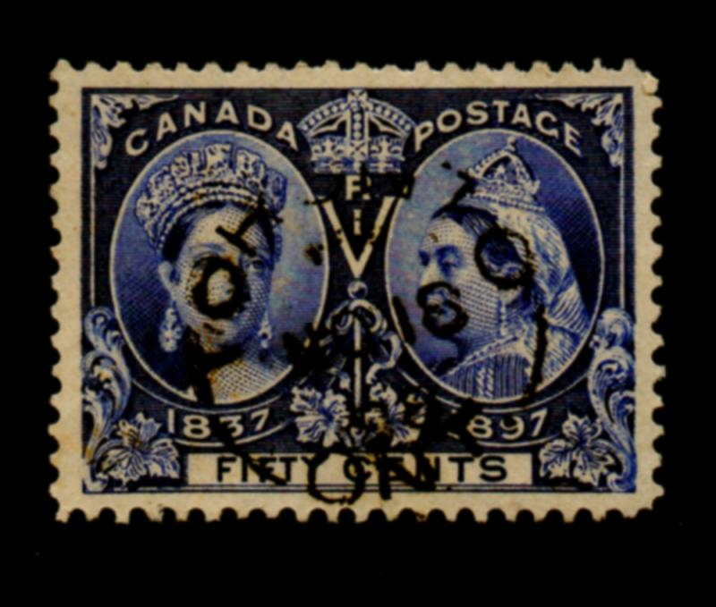 Canada Sc 60 1897 50 c Victoria Jubilee stamp used