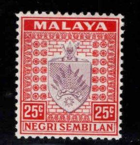 MALAYA Negri Sembilan Scott 29 MH* coat of arms stamp