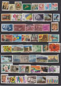 LOT OF DIFFERENT STAMPS OF USA USED (50) LOT#253