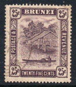 Brunei 1924 KGV 25c wmk MSCA SG 75 used
