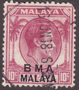 Malaysia BMA 262a  King George VI - O/P 1948