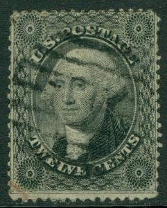 USA : 1857. Scott #36 Used. Nice stamp. PSAG Certificate. Catalog $350.00.