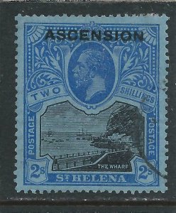 ASCENSION 1922 2s BLACK & BLUE/BLUE FU SG 7 CAT £130