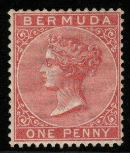 BERMUDA SG22 1883 1d DULL ROSE MTD MINT
