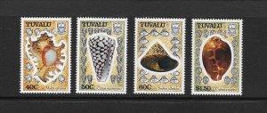 SHELLS - TUVALU #562-5 MNH