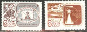 Russia Scott 3483-3484 MNH** 1968 stamp set