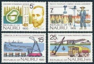 Nauru 120-123,MNH.Michel 117-120. Phosphate Industry,1975.Albert Ellis,Ships,map