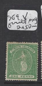 VIRGIN ISLANDS (P2105B)  VIRGIN   1/2D  SG9  V FAULT  MNG