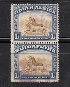 J28441, 1927-8 south africa used pair #29 perf type 14x131/2 gnu