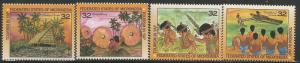 MICRONESIA 239, A-D, MNH, BLOCK OF 4 STAMPS, TOURISM IN YAP