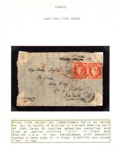 RARE Cover of France (Qtt 6) #1 etc.... ECV $10000.00