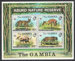 Gambia WWF Wild Animals MS SG#MS360 MI#Block 2 SC#Bl. 344