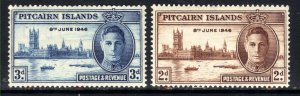 Pitcairn Islands 1946 KGV1 Set of Victory MM SG 9 - 10 ( D1337 )
