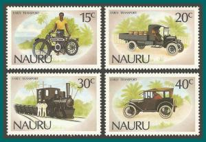 Nauru 1986 Early Transport, MNH #317-320,SG332-SG335