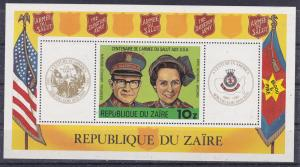 Zaire MNH S/S 968 Salvation Army 1980