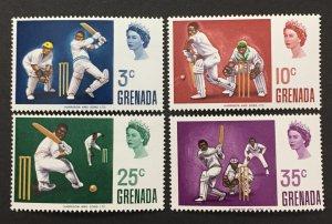 Grenada 1969 #324-7, Cricket, MNH