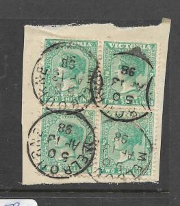 VICTORIA  (PP0606B) QV 2/-  SG 304A BL OF 4   VFU