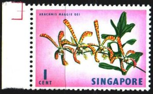 Singapore. 1963. 53 from the series. Orchid arachnis. MNH.