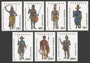 Tanzania 1193-1199,hinged.Michel 1685-1691. Historical African Costumes 1993.
