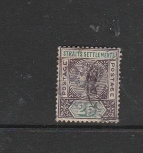 Straits Settlements 1892/9 25c Used SG 103/c