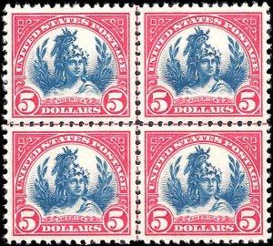 573 Mint,OG,NH... Centerline Block of 4... PSE Graded 98-Superb