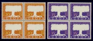 Saar Sc#  286-7 MNH Europa 1957 (Block of 4)