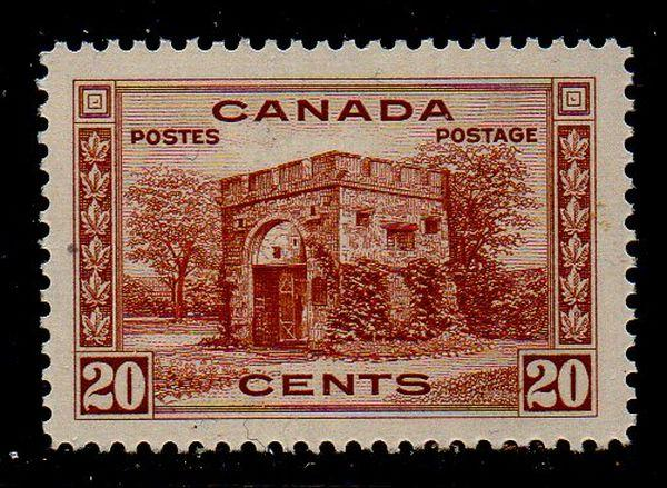 Canada Sc 243 1938 20 c Fort Garry Gate stamp mint NH