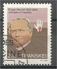TRANSKEI, 1983, used 20c, Gregor Mendel. Scott 102