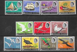Pitcairn Islands #39-49 Birds  (MNH) CV$17.35