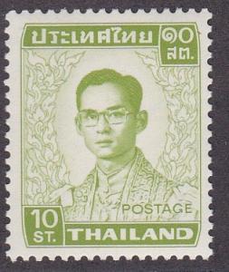 Thailand # 605, King Type, Hinged
